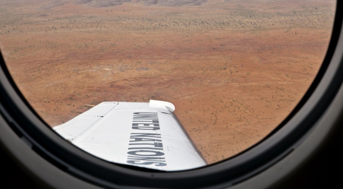 UN plane flies over Mali