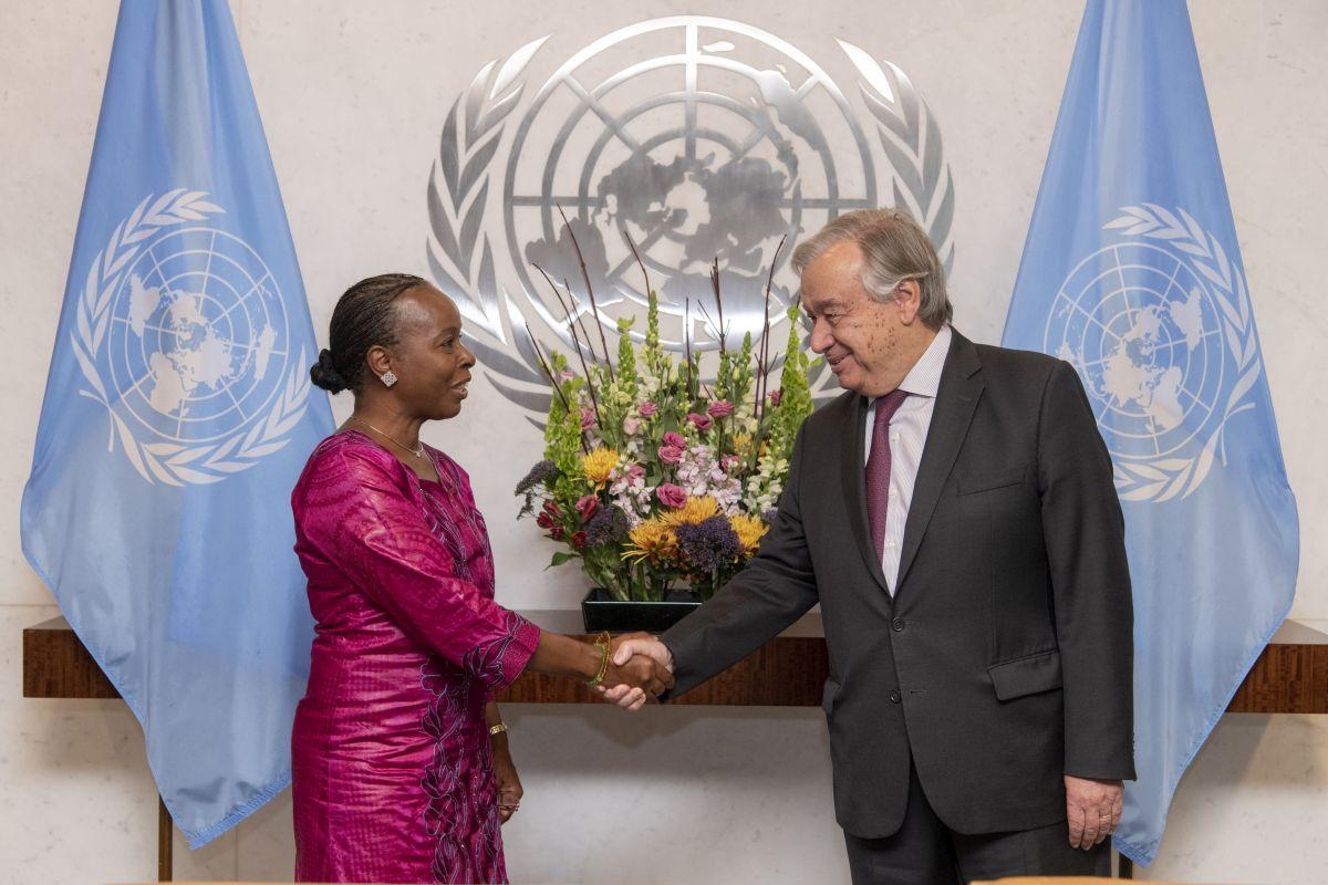 وكيلة الأمين العام لخدمات الرقابة الداخلية تؤدي القسم أمام الأمين العام للأمم المتحدة