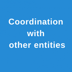 Coordination with entities